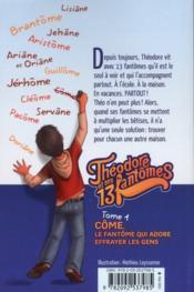 Théodore et ses 13 fantômes t.1 - 4ème de couverture - Format classique