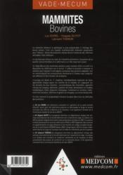 Mammites Bovines - 4ème de couverture - Format classique