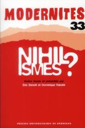 Nihilismes ? - Couverture - Format classique