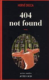 404 not found - Couverture - Format classique