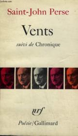 Vents Suivi De Chronique. Collection : Poesie. - Couverture - Format classique