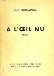 A L'Oeil Nu - Couverture - Format classique