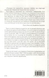 Histoire de France de Lavisse t.15 ; Louis XIV et la fin du règne (1684-1715) - 4ème de couverture - Format classique