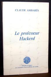 Le professeur Hackerd - Couverture - Format classique