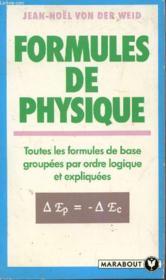 Formules De Physique - Couverture - Format classique