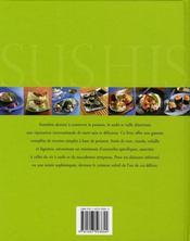 Sushis ; savoureuses recettes à la japonaise - 4ème de couverture - Format classique