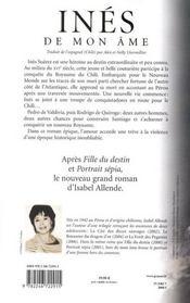 Inés de mon âme - 4ème de couverture - Format classique