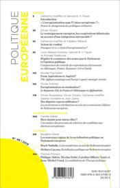 Revue Politique Europeenne T.48 ; Les Politiques Militaires En Europe ; L'Héritage De Bastien Irondelle - 4ème de couverture - Format classique