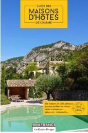Guide des maison d'hôtes de charme en France 2016 - Couverture - Format classique