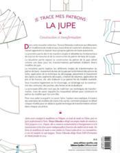 Je trace mes patrons ; la jupe ; construction et transformation - 4ème de couverture - Format classique