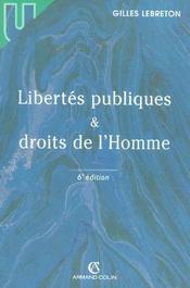 Libertes Publiques Et Droits De L'Homme - Intérieur - Format classique