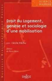 Droit au logement ; genèse et sociologie d'une mobilisation t.5 - Couverture - Format classique