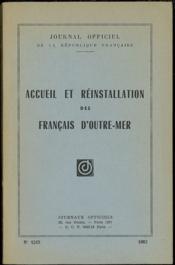 Accueil Et Reinstallation Des Francais D'Outre-Mer - Couverture - Format classique