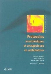 Protocoles anesthésiques et analgésiques en ambulatoire - Intérieur - Format classique