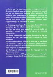 La Culture Generale En Fiches Classes Preparatoires Instituts D'Etudes Politiques Concours Administr - 4ème de couverture - Format classique