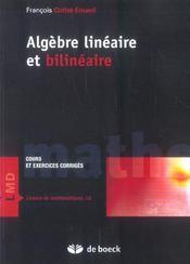 Algèbre linèaire et bilinèaire - Intérieur - Format classique