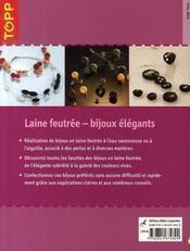 Laine feutrée ; bijoux élégants - 4ème de couverture - Format classique
