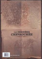 La dernière chevauchée t.2 ; le crépuscule des charognards - 4ème de couverture - Format classique