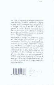 Carnets de Saorge - 4ème de couverture - Format classique