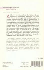 Proust antijuif - 4ème de couverture - Format classique