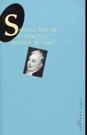 Propos De Table - Couverture - Format classique