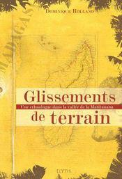 Glissements de terrain ; une ethnologue dans la vallée de la Matitanana - Couverture - Format classique