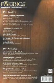 Faeries 20 special legende arthurienne - 4ème de couverture - Format classique