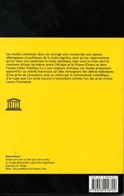 La traite negriere du xv au xix siecle - 4ème de couverture - Format classique