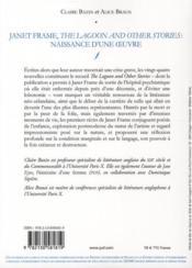 Janet Frame, the lagoon and other stories ; naissance d'une oeuvre - 4ème de couverture - Format classique