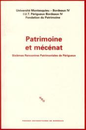Patrimoine et mecenat - Couverture - Format classique