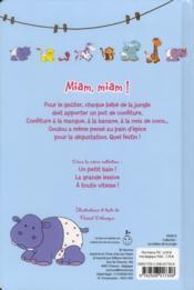 Miam, miam ! - 4ème de couverture - Format classique