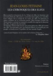 Les chroniques des elfes ; intégrale - 4ème de couverture - Format classique