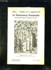 La Renaissance Provinciale N° 104 Novembre 1953 Janvier 1954. Marche Aux Noix En Perigord. - Couverture - Format classique