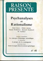 RAISON PRESENTE n° 46 : Psychanalyses et Rationalisme - Couverture - Format classique