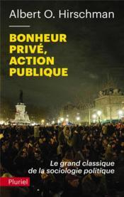 Bonheur prive, action publique - Couverture - Format classique