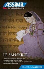 Le sanskrit ; débutants et faux-débutants - Couverture - Format classique