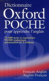Dictionnaire Oxford ; anglais-français / français-anglais - Couverture - Format classique