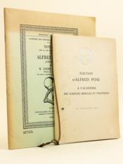Notice sur la vie et les travaux d'Alfred Pose (1899-1969) lue dans la séance du mardi 11 mai 1971 [ On joint : ] Election d'Alfred Pose à l'Académie des Sciences Morales et Politiques le 16 novembre 1953 - Couverture - Format classique