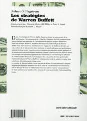 Les strategies de Warren Buffett (3e édition) - 4ème de couverture - Format classique