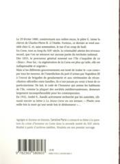 Vendetta ; bandits et crimes d'honneur en Corse au XIXe siècle - 4ème de couverture - Format classique