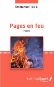 Pages en feu - Couverture - Format classique