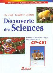 Découverte des sciences ; CP, CE1 ; manuel de l'élève - Intérieur - Format classique