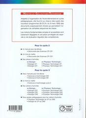 Découverte des sciences ; CP, CE1 ; manuel de l'élève - 4ème de couverture - Format classique
