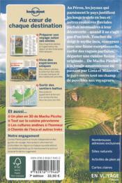 Pérou (7e édition) - 4ème de couverture - Format classique