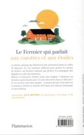 Le fermier qui parlait aux carottes et aux étoiles - 4ème de couverture - Format classique