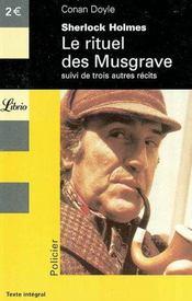 Sherlock Holmes ; Le Rituel Des Musgrave - Intérieur - Format classique