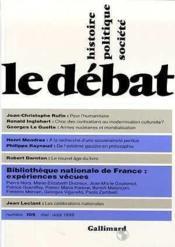 Revue Le Débat N.105 - Couverture - Format classique