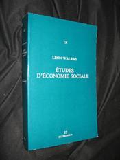 Etudes economie sociale - Couverture - Format classique