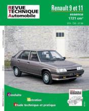 Rta 443.4 Renault 9 Et 11 (Moteur 1721) - Couverture - Format classique
