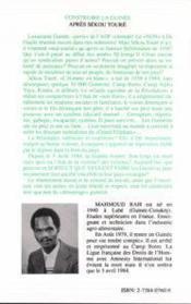 Construire la Guinée ; après Sékou Touré - 4ème de couverture - Format classique